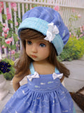 Little Fishies - dress, hat & sandals for Little Darling Doll or 33cm BJD