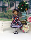 Little Geisha - dress, hat, tights & shoes for Little Darling Doll or 33cm BJD