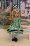 Little Indian Fox - dress, tights & shoes for Little Darling Doll or 33cm BJD