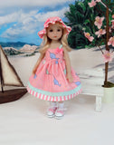 Little Narwhal - dress, hat, socks & shoes for Little Darling Doll or 33cm BJD