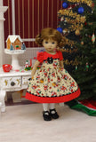 Little Santa - dress, tights & shoes for Little Darling Doll or other 33cm BJD