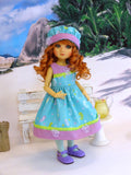 Little Seahorse - dress, hat, tights & shoes for Little Darling Doll