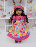 Lollipop, Lollipop - dress, hat, tights & shoes for Little Darling Doll or 33cm BJD