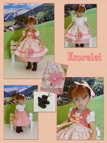 "Lorelei - custom 13"" Mini Pal doll w/ wardrobe"