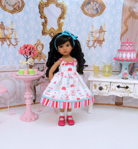 Love Birds - dress, socks & shoes for Little Darling Doll or 33cm BJD