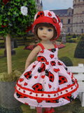 Love Bug - dress, hat, tights & shoes for Little Darling Doll