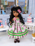 Love Grows - dress, hat, tights & shoes for Little Darling Doll or 33cm BJD