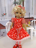 Love & Kisses - dress, tights & shoes for Little Darling Doll