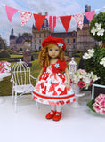 Love Letters - dress, jacket, hat, tights & shoes for Little Darling Doll