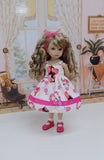 Lovely Deer - dress, socks & shoes for Little Darling Doll or 33cm BJD