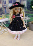Lovely Rosebud - dress, hat, tights & shoes for Little Darling Doll or 33cm BJD