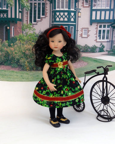 Lucky Bug - dress, tights & shoes for Little Darling Doll