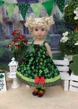 Lucky Ladybug - dress, tights & shoes for Little Darling Doll or 33cm BJD
