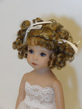 Lulu Wig in Ginger Brown - for Little Darling dolls