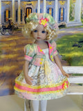 Magic Carousel - dress, jacket, beret, tights & shoes for Little Darling Doll
