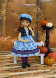 Magician's Assistant - dress, jacket, hat, tights & shoes for Little Darling Doll or 33cm BJD