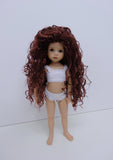 Mallory Wig in Burgundy - for Little Darling dolls