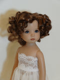 Marianne wig in Chestnut Brown - for Little Darling dolls