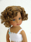 Marianne wig in Ginger Brown - for Little Darling dolls