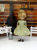 Meadow Plaid - dress & apron ensemble with tights & shoes for Little Darling Doll or 33cm BJD