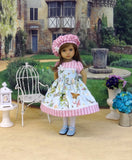 Meadow Song - dress, hat, tights & shoes for Little Darling Doll or 33cm BJD