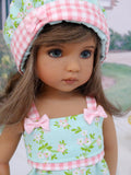 Meadowsoft - romper, hat, socks & shoes for Little Darling Doll or 33cm BJD