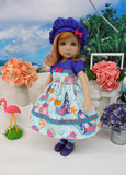 Mermaid Lagoon - dress, hat, tights & shoes for Little Darling Doll or 33cm BJD