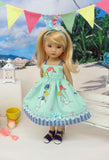 Mermaid Tales - dress & sandals for Little Darling Doll or 33cm BJD