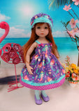 Mermazing - dress, hat, tights & shoes for Little Darling Doll or 33cm BJD