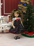 Merriest Christmas - dress, tights & shoes for Little Darling Doll or other 33cm BJD