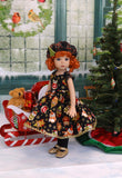 Merry Owls - dress, hat, tights & shoes for Little Darling Doll or 33cm BJD