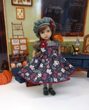 Midnight Autumn - dress, hat, tights & shoes for Little Darling Doll or 33cm BJD