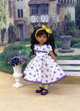 Midsummer Bouquet - dress, tights & shoes for Little Darling Doll or other 33cm BJD