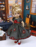 Midwinter Blooms - dress, tights & shoes for Little Darling Doll or other 33cm BJD