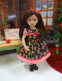 Miniature Santa - dress, socks & shoes for Little Darling Doll or 33cm BJD