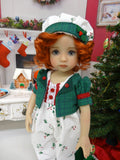 Miss Holly - romper, jacket, hat, socks & shoes for Little Darling Doll or 33cm BJD