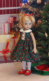 Mistletoe & Holly - dress, tights & shoes for Little Darling Doll or 33cm BJD