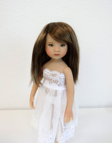 Misty Wig in Two Tone Brown - for Little Darling dolls
