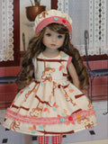 Monkey Around - dress, hat, tights & shoes for Little Darling Doll or 33cm BJD