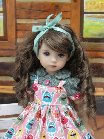 Monster Mash - dress, blouse, socks & shoes for Little Darling Doll or 33cm BJD