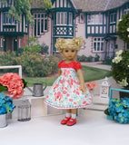 Mushroom Meadow - dress, socks & shoes for Little Darling Doll or 33cm BJD
