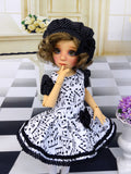 Musicality - dress, beret, tights & shoes for Little Darling Doll or other 33cm BJD