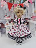 My Valentine - dress, tights & shoes for Little Darling Doll