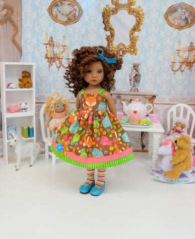 Namaste Critters - dress, tights & shoes for Little Darling Doll or 33cm BJD