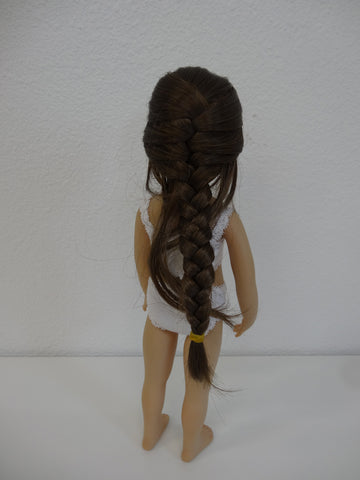 Navajo Wig in Light Brown - for Little Darling dolls