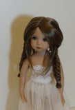 Nelly wig in Two Tone Brown - for Little Darling dolls