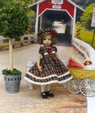 New England Plaid - dress, hat, tights & shoes for Little Darling Doll or 33cm BJD
