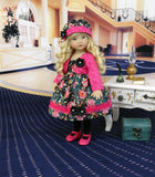 "Night Out - dress, jacket, hat, tights & shoes for 13"" Little Darling Doll or 33cm BJD"