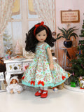 Noel - dress, tights & shoes for Little Darling Doll or 33cm BJD