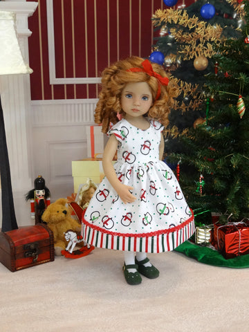 North Pole Penguins - dress, tights & shoes for Little Darling Doll or 33cm BJD